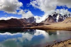 Gurudongmarmeer, Noord-Sikkim, India Stock Afbeelding