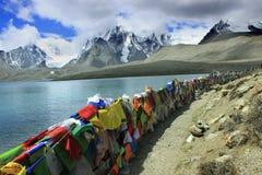 Gurudongmarmeer, Noord-Sikkim, India Stock Afbeeldingen