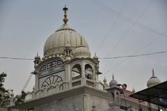 Gurudwara Banda Ghat Sahib, Nanded, Maharashtra, Indien lizenzfreies stockbild