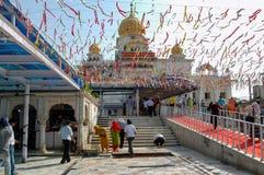 Gurudwara Bangla Sahib in Neu-Delhi, Indien Lizenzfreies Stockfoto