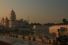 Gurudwara Bangla Sahib New delhi stock image