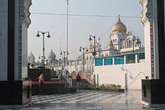 Gurudwara Bangla Sahib Nuova Delhi Fotografia Stock Libera da Diritti