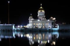 Gurudwara Bangla Sahib, Sikh gurdwara in Delhi India royalty free stock photos
