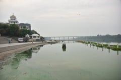 Gurudwara Nagina Ghat, Nanded, Maharashtra, Indien lizenzfreies stockfoto