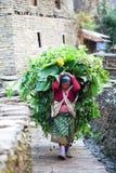 Gurung人,尼泊尔 免版税库存照片