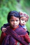 Gurung孩子,尼泊尔 免版税图库摄影