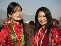 gurung γυναίκες στοκ φωτογραφίες