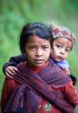 gurung 2 детей Стоковое Изображение