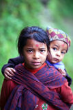 Gurung children, Nepal Royalty Free Stock Photography