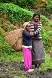 Gurung ethnic women in the Himalayas Royalty Free Stock Photo