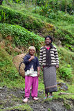 Gurung ethnic women in the Himalayas Stock Photos