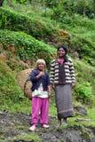 Gurung ethnic women in the Himalayas Stock Photos