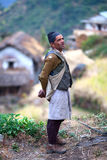 Gurung man, Nepal Royalty Free Stock Photography