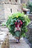 Gurung woman peasant royalty free stock photography