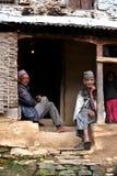 Gurungsherpas in het Himalayagebergte, Nepal royalty-vrije stock fotografie