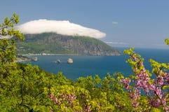 Gurzuf and Mount Ayu-Dag Royalty Free Stock Image