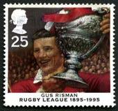 Gus Risman rugby Ligowy UK znaczek pocztowy Zdjęcia Stock