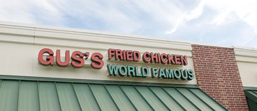 Gus's World Famous Fried Chicken Sign Stock Photo