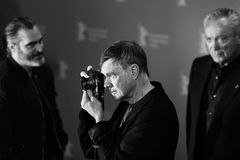 Gus Van Sant poses at the `Don`t Worry, He Won`t Get Far on Foot. ` photo call during the 68th Berlinale Film Festival Berlin at Hyatt Hotel on February 20, 2018 Stock Images