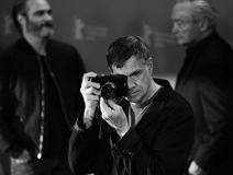 Gus Van Sant poses at the `Don`t Worry, He Won`t Get Far on Foot. ` photo call during the 68th Berlinale Film Festival Berlin at Hyatt Hotel on February 20, 2018 Stock Photos