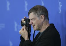Gus Van Sant poses at the `Don`t Worry, He Won`t Get Far on Foot. ` photo call during the 68th Berlinale Film Festival Berlin at Hyatt Hotel on February 20, 2018 Royalty Free Stock Photos