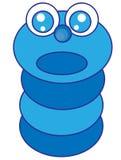 Gusano azul Imagen de archivo libre de regalías