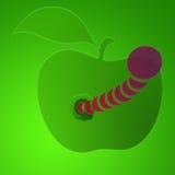 Gusano en la manzana libre illustration