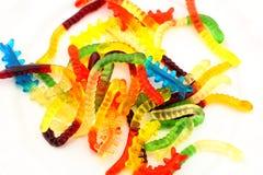 Gusanos gomosos de la mermelada del caramelo Imagen de archivo libre de regalías