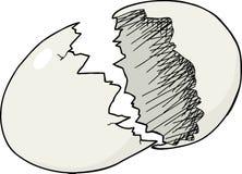 Guscio d'uovo incrinato Immagine Stock Libera da Diritti