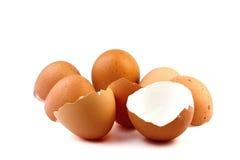Guscio d'uovo su fondo bianco Immagini Stock Libere da Diritti