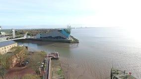 Guscio del fiume, Kingston Upon Hull stock footage