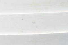Guscio lapstrake del crogiolo di vetroresina bianca sporca Fotografia Stock Libera da Diritti