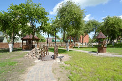 GUSEV, RUSSIA - JUNE 04, 2015: Landscaping in rural style Stock Image