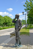 GUSEV, RUSSIA - JUNE 04, 2015: Lyceum student's sculpture in summer Stock Photo
