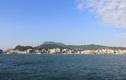 Gushan hamncityscape Kaohsiung Taiwan Arkivfoton