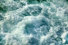 Gushing Sea. Water with lots of surf royalty free stock photography