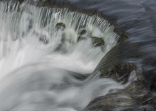 Gushing water. In the Bronx river Stock Image