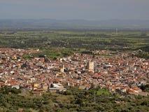 Guspini i landskapet Medio Campidano, Sardinia, Italien royaltyfri bild