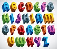 Guss 3d, vector bunte glatte Buchstaben Lizenzfreie Stockfotografie