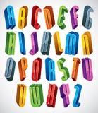 Guss 3d, vector hohe dünne Buchstaben Stockbilder