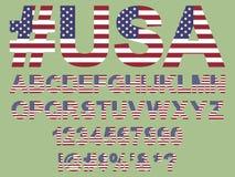 Guss der amerikanischen Flagge Lizenzfreie Stockfotos