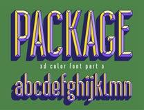 Guss der Farbe 3d für ProduktVerpackungsgestaltung lizenzfreie stockfotos