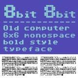 Guss mit 8 Bits lizenzfreie abbildung