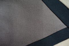 Gusset серой ткани зашитый к бежевой и черной ткани Стоковое Изображение RF