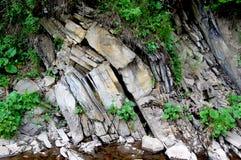 Gussetted rotsvorming aan erosie wordt blootgesteld die Royalty-vrije Stock Fotografie