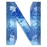 Gussteil des blauen Wassers oder des Eises colletion Lizenzfreies Stockbild