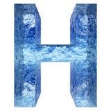 Gussteil des blauen Wassers oder des Eises colletion Lizenzfreies Stockfoto