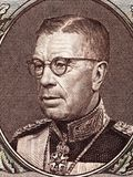 Gustaf VI Adolf von Schweden-Porträt Stockfotos