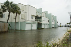 Gustav Flooded Apartments Royalty Free Stock Photos
