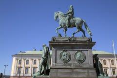 Gustav II Adolf Statue; Stockholm Lizenzfreies Stockfoto